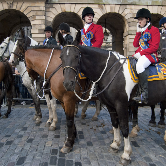 """The Riding of the Marches Edinburgh Scotland"" stock image"