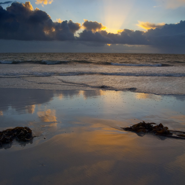 """Seascape South Uist Outer Hebrides Scotland UK"" stock image"