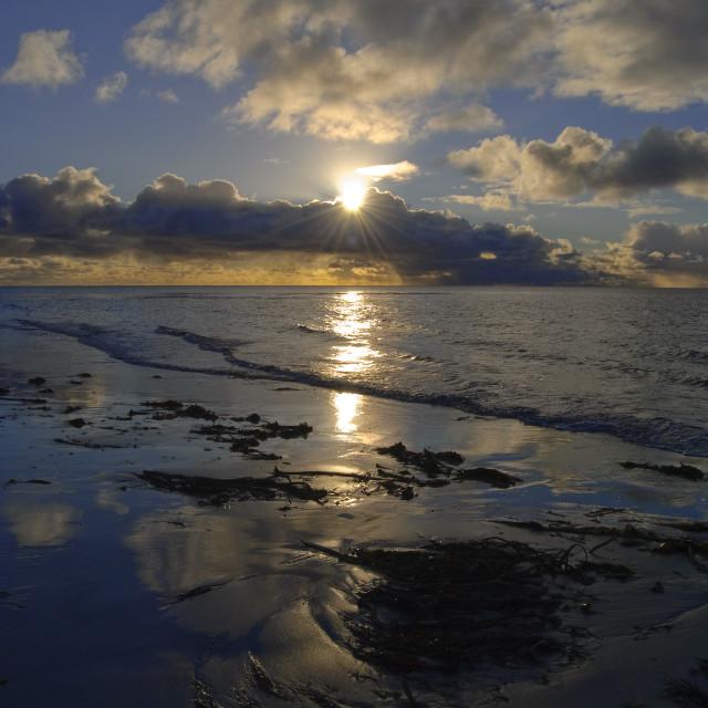 """""""Beach Outer Hebrides Scotland"""" stock image"""