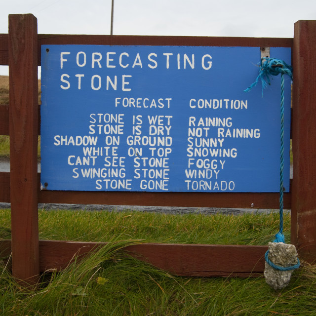 """The Forecasting Stone"" stock image"