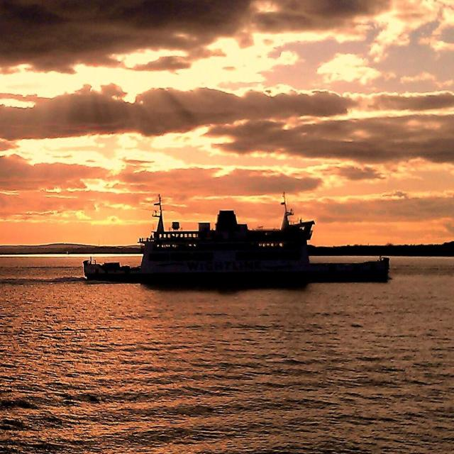 """Sunset on the Solent"" stock image"