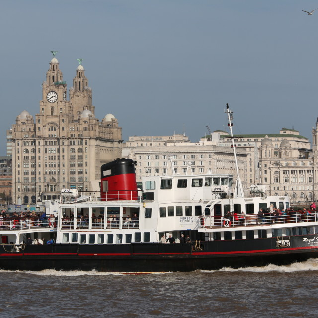 """The Mersey Ferry"" stock image"