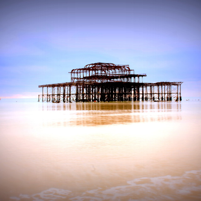 """West Pier Brighton"" stock image"