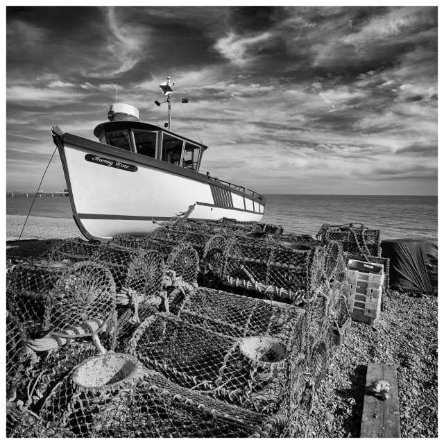 """""""Deal Fishing Boats III"""" stock image"""