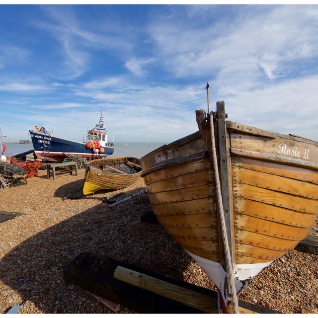 """Deal Fishing Boats II"" stock image"