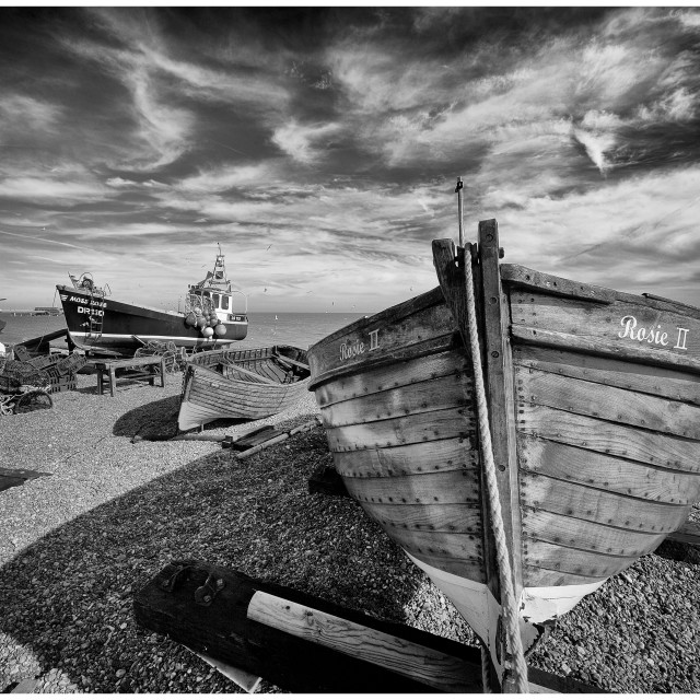 """""""Deal Fishing Boats IV"""" stock image"""