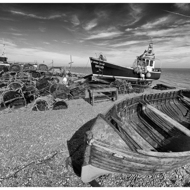 """Deal Fishing Boats V"" stock image"