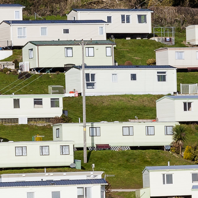 """Caravan Holiday Park"" stock image"