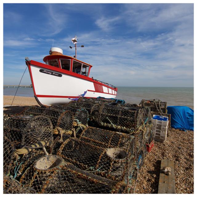 """Deal Fishing Boats VI"" stock image"
