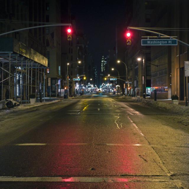 """""""Broadway Is Quiet"""" stock image"""