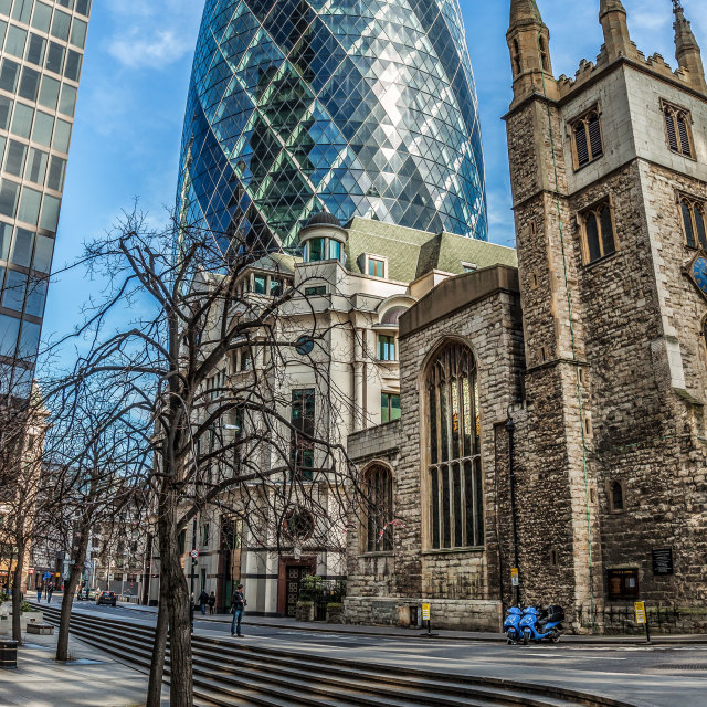 """The Gherkin Building"" stock image"