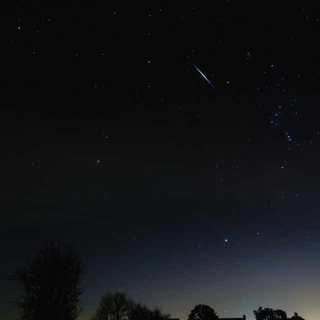 """Iridium Flare"" stock image"