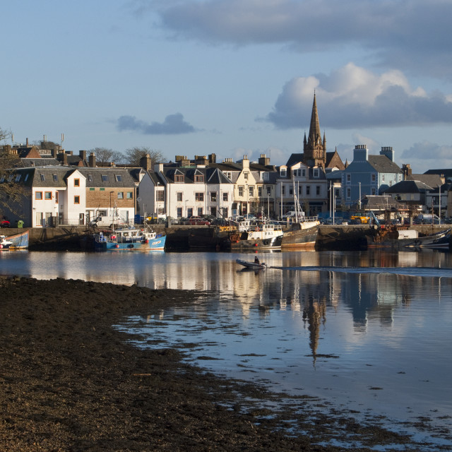 """Stornoway Harbour Outer Hebrides"" stock image"