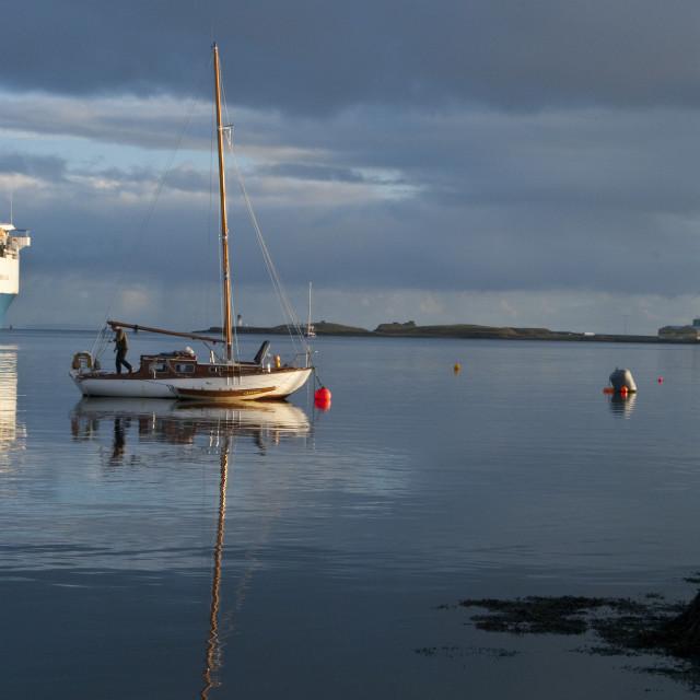 """Yacht Stornoway Scotland"" stock image"