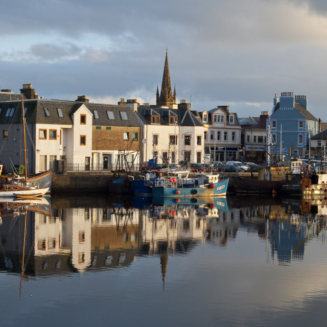 """""""Stornoway Harbour Outer Hebrides"""" stock image"""