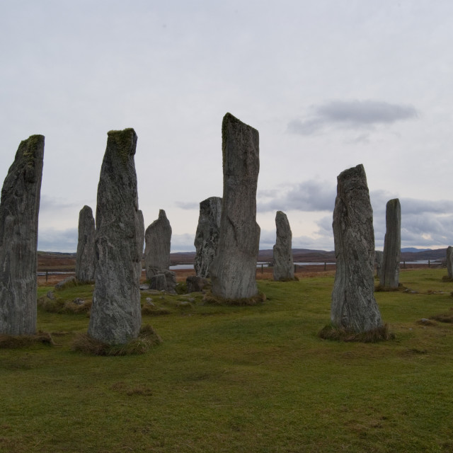 """Callanish Stones Isle of Lewis"" stock image"