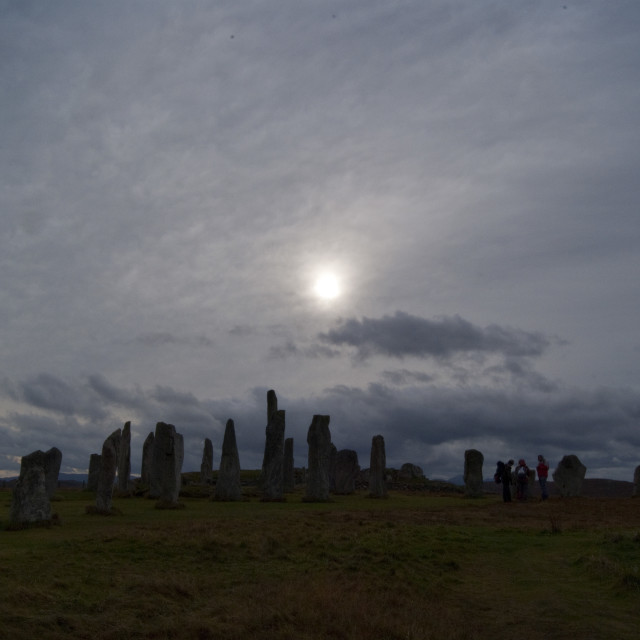 """Callanish Stones Isle of Lewis"" stock image"
