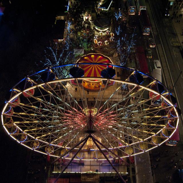 """Ferris Wheel Edinburgh Scotland"" stock image"