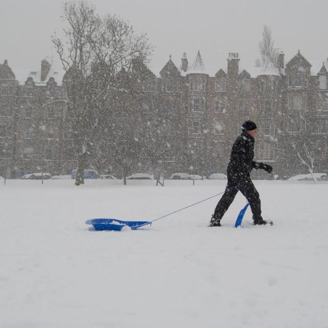 """Winter Edinburgh Scotland"" stock image"