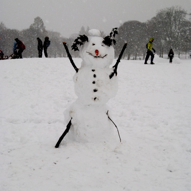 """Snowman"" stock image"