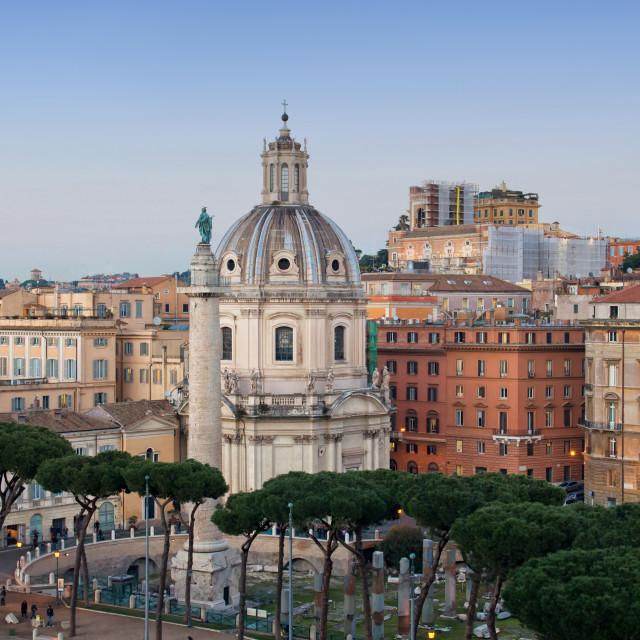 """""""Rome skyline panorama"""" stock image"""