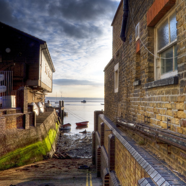 """""""The Gap at Old Leigh"""" stock image"""