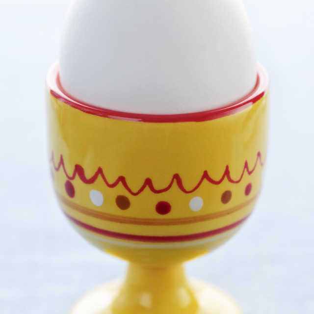 """Boiled egg in cup"" stock image"