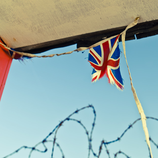 """Tattered Union flag"" stock image"