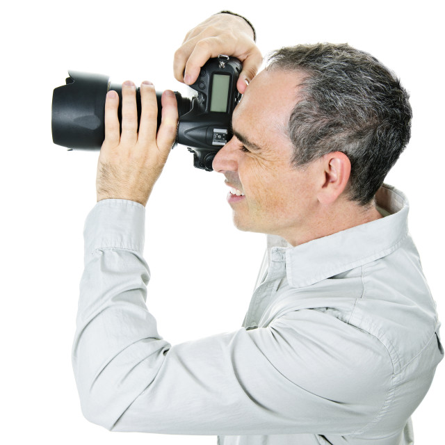 """Photographer with camera"" stock image"
