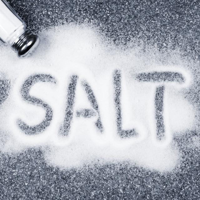 """""""Salt spilled from shaker"""" stock image"""