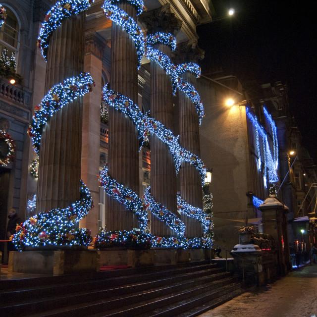 """Christmas in Edinburgh Scotland"" stock image"