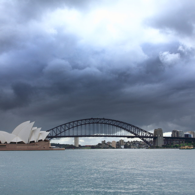 """""""Storm clouds in Sydney"""" stock image"""
