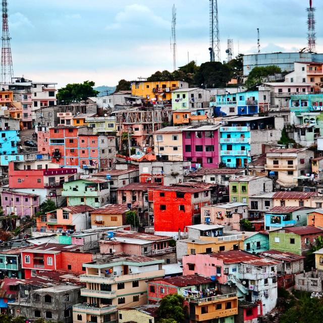 """""""Las Peñas, Guayaquil"""" stock image"""