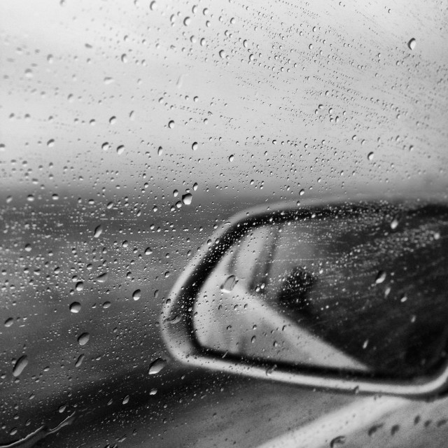 """""""Driving in the rain"""" stock image"""