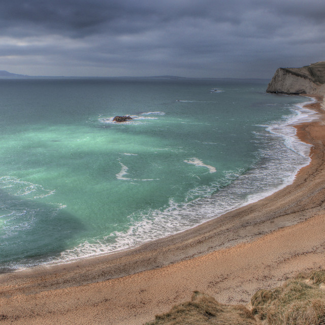 """Durdle Door and Coast line"" stock image"
