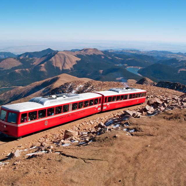"""Pikes Peak Cog Railway"" stock image"