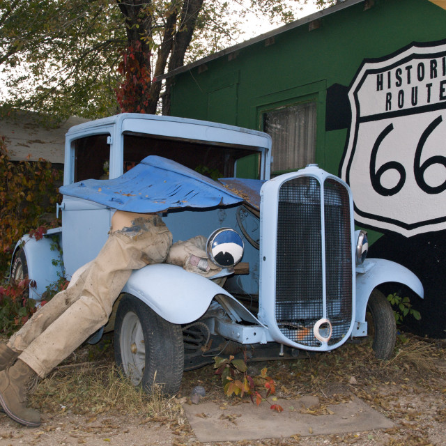 """""""Historic Route 66"""" stock image"""