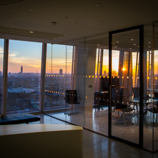 """""""Sunset in the Shard"""" stock image"""