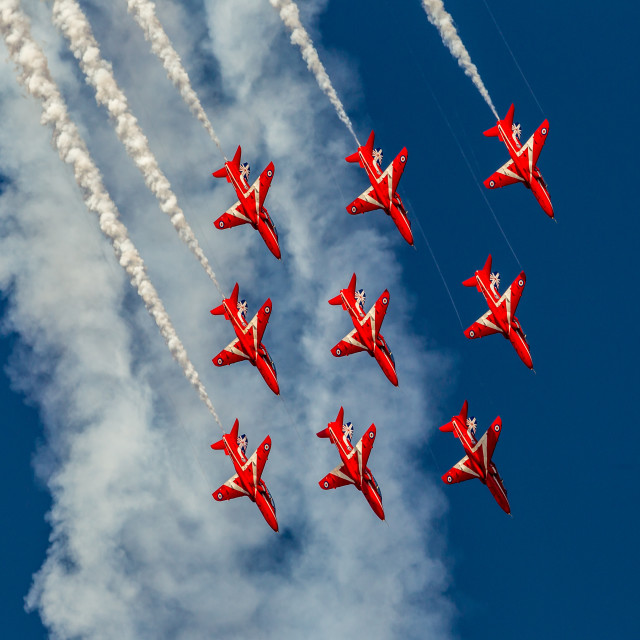 """Red Arrows - 50 years"" stock image"