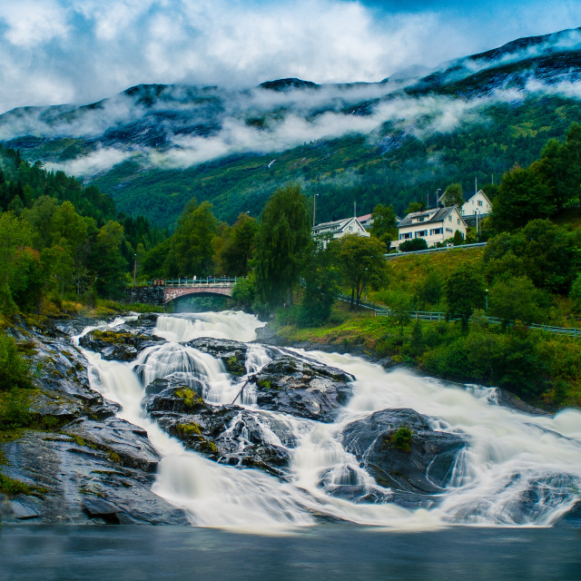 """""""Hellesylt, Norway [High-Res & Re-Edited]"""" stock image"""