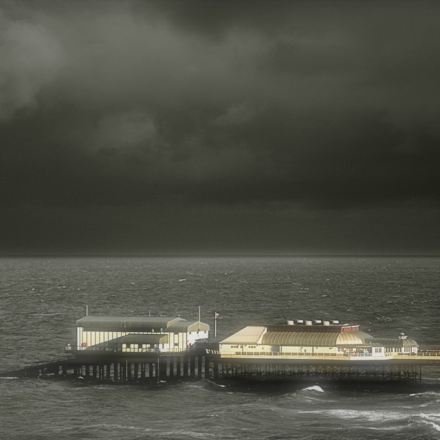 """""""Storm over Cromer"""" stock image"""