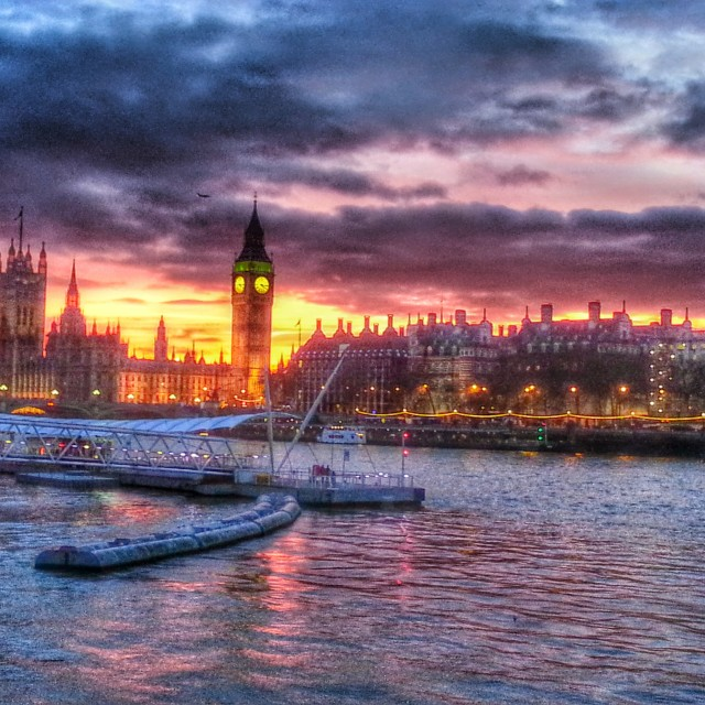 """Sunset over Parliment"" stock image"