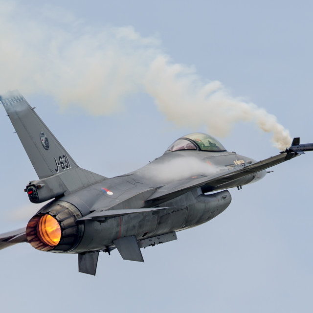 """F-16 at RIAT"" stock image"
