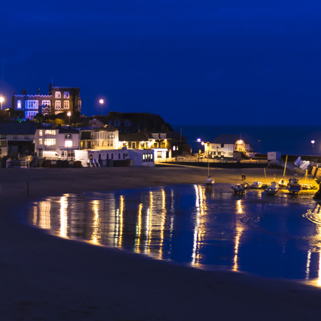 """Broadstairs at night"" stock image"