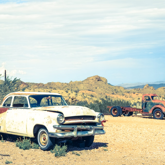 """""""Route 66 Cars"""" stock image"""
