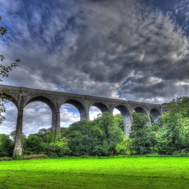 """Railway viaduct"" stock image"