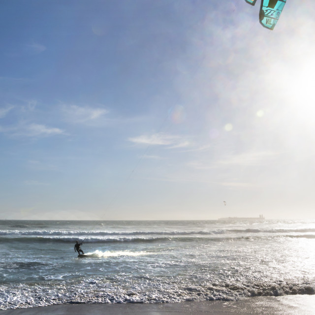 """Kitesurfing Perfection in Cape Town"" stock image"