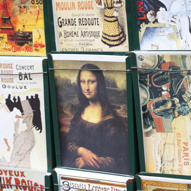 """""""Mona Lisa Postcard"""" stock image"""