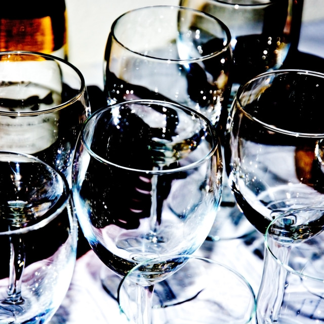 """Sparkling wine glasses"" stock image"