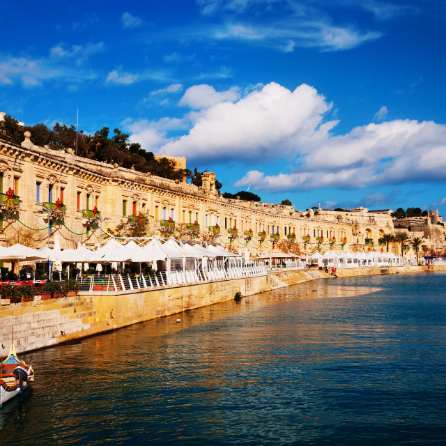 """Valletta WaterFront"" stock image"